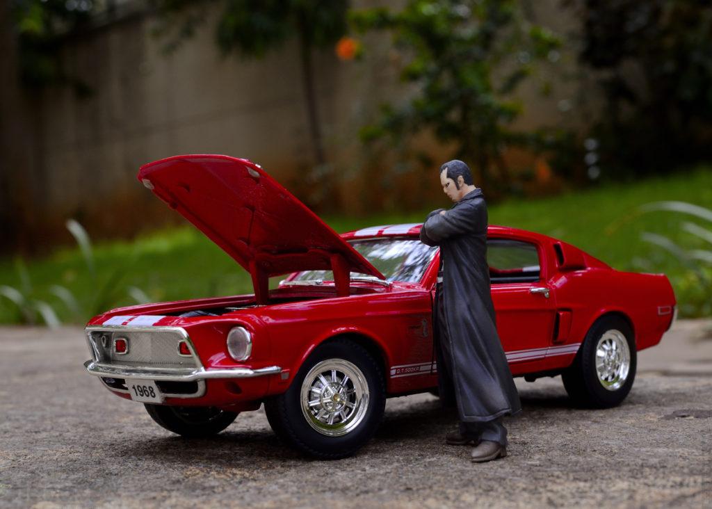 1968 Mustang Shelby GT500 - Hood Open