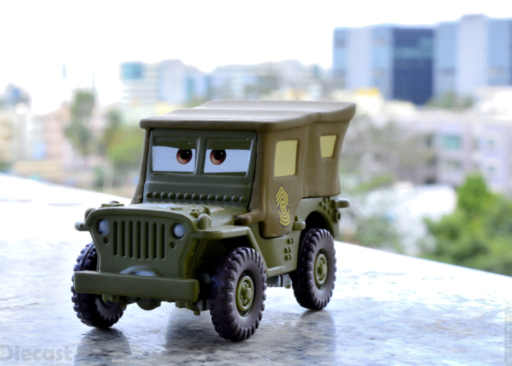 Disney Pixar Cars – Sarge's Boot Camp Diecast Photography