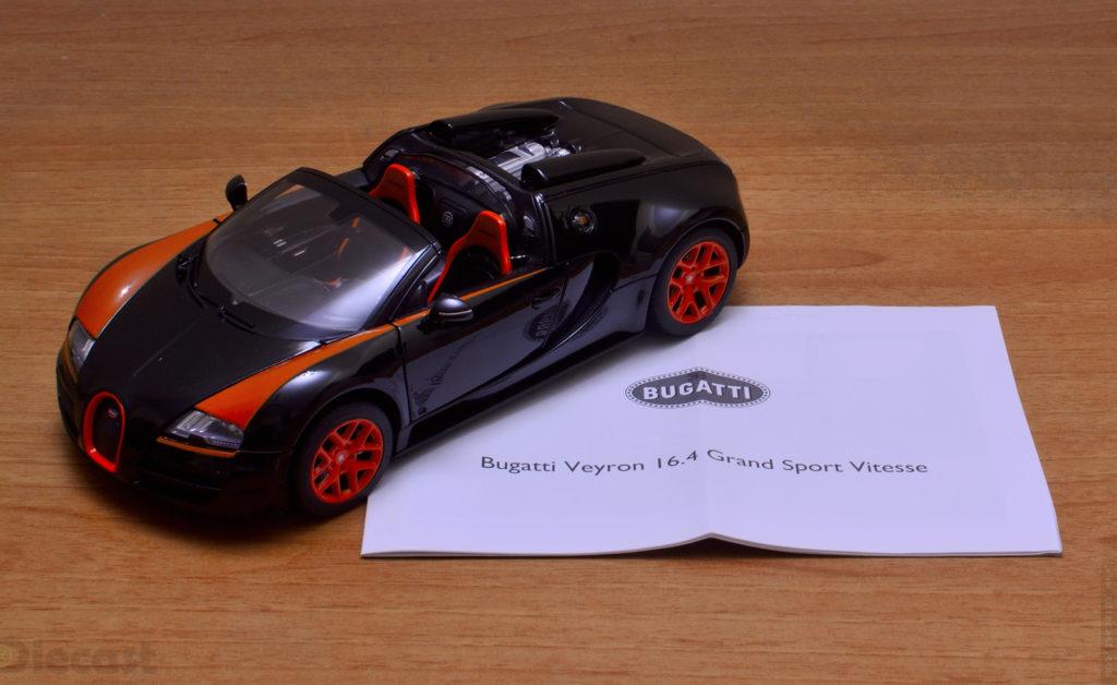 Rastar Bugatti Veyron Grand Sport Vitesse - Content