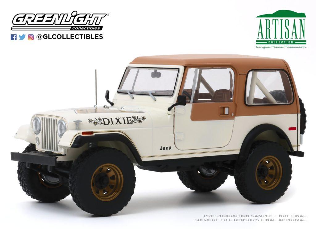 Greenlight 1:18 1979 Jeep CJ7 Golden Eagle Dixie