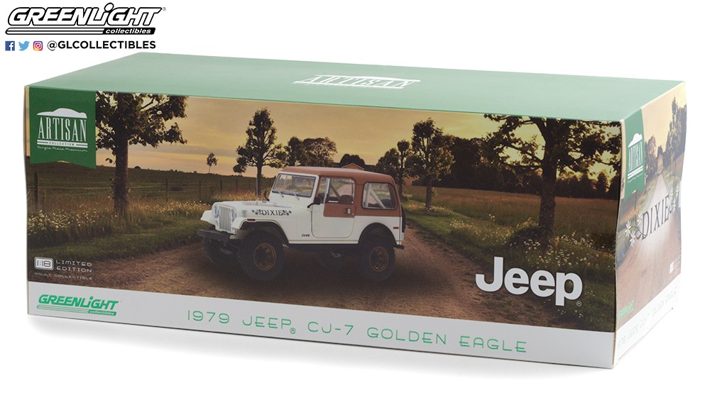 Greenlight 1:18 1979 Jeep CJ7 Golden Eagle Dixie - Package
