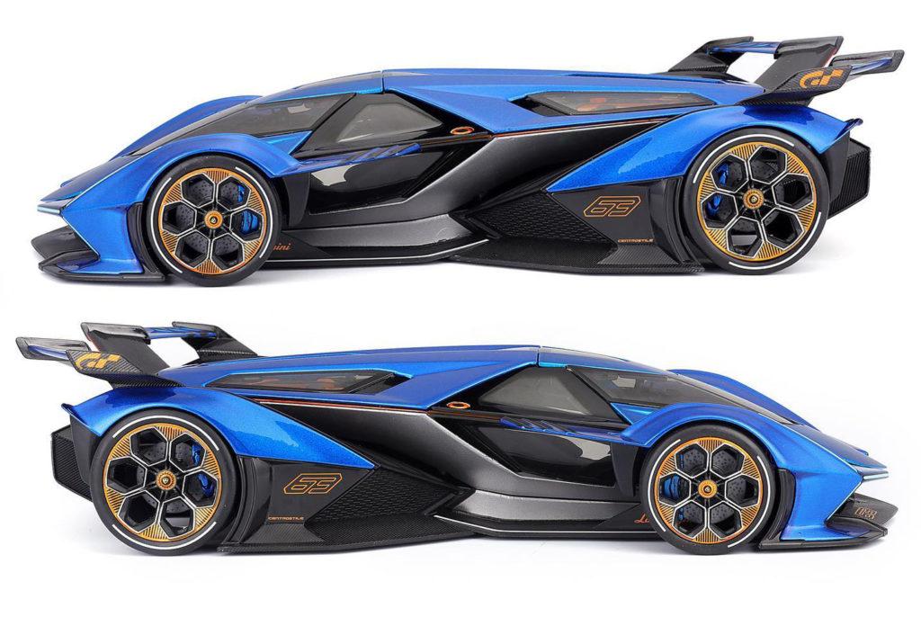 Maisto Lamborghini V12 Vision Gran Turismo Blue - Profile