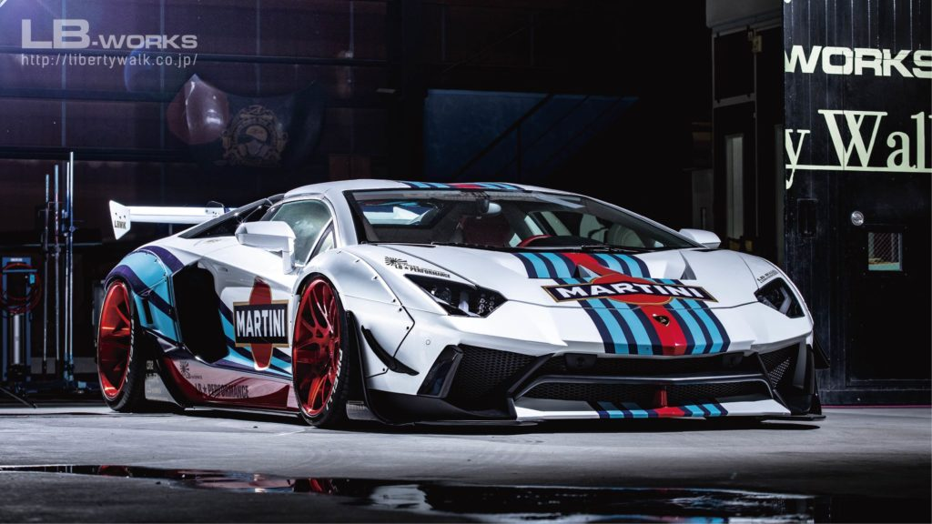 AUTOart is All Set to Launch its 1:18 Scale Liberty Walk LB-Works Lamborghini Aventador Limited Edition in Martini Livery