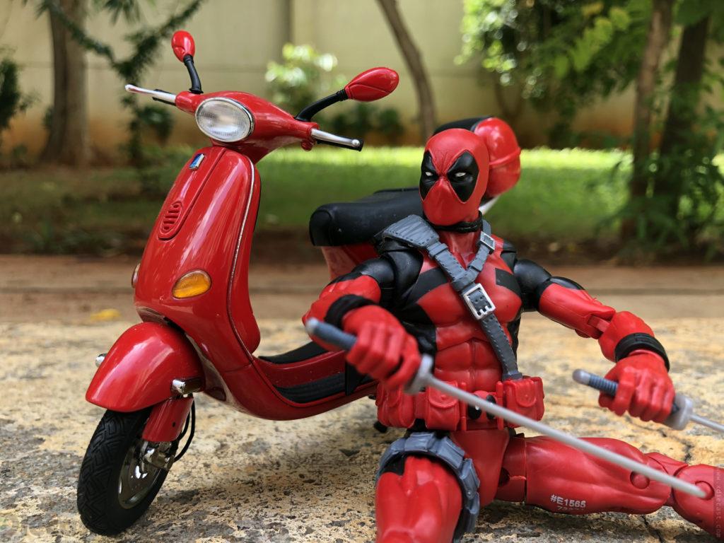 Marvel Legends Deadpool Figurine Gets His Own Vespa