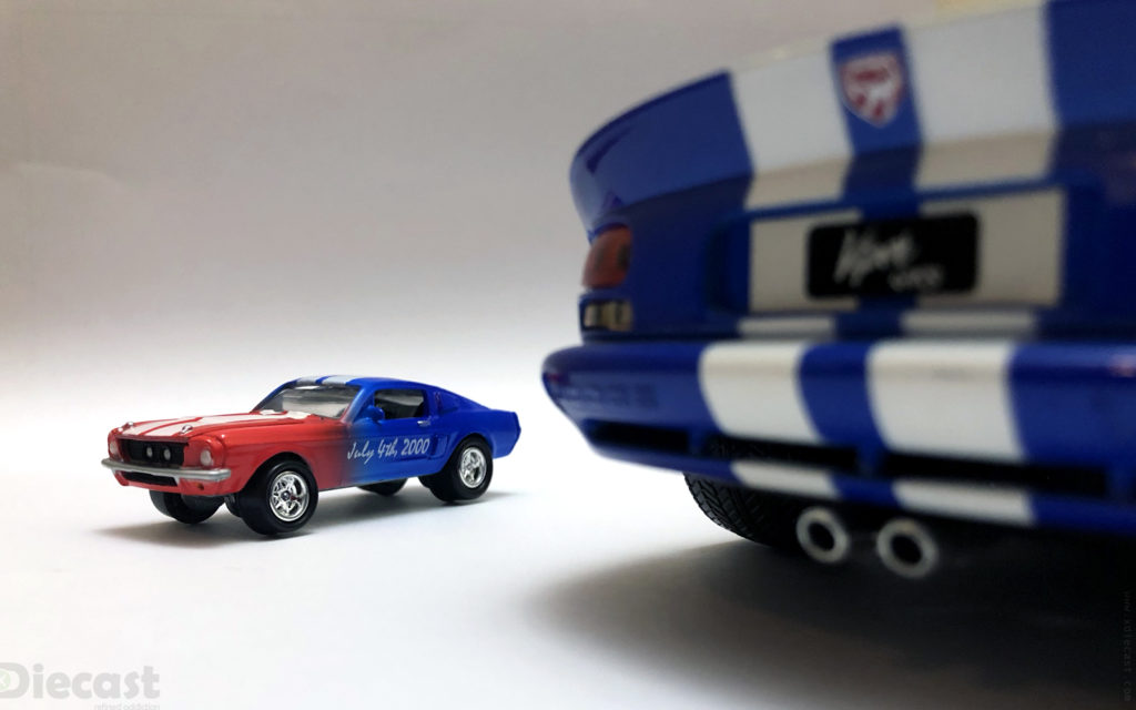 4th of July Photo Session with 1:64 Johnny Lightning 1967 Shelby GT350 Mustang