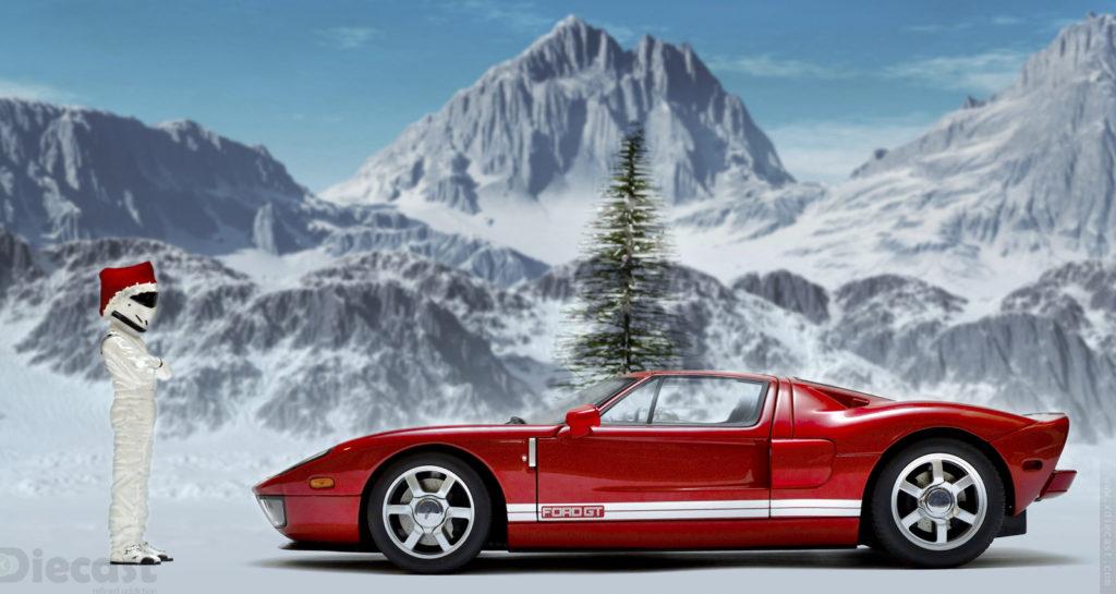 Christmas Toy Photoshoot with Stig Figurine and AUTOart Cars
