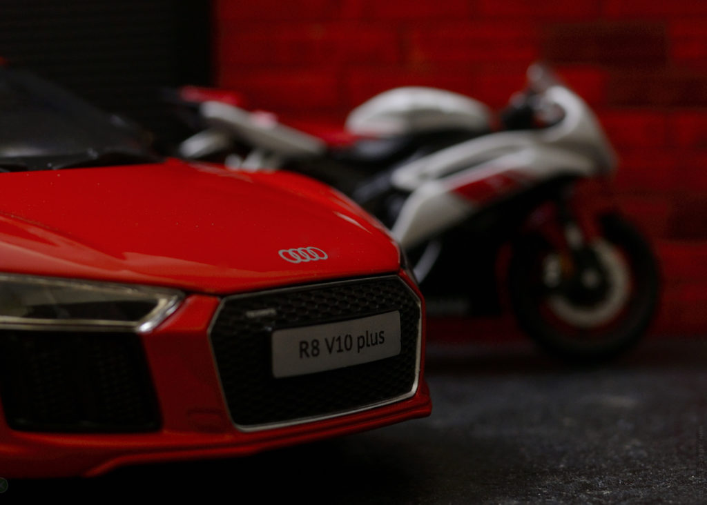 Weekend Toy Photoshoot – Car vs Motorbike